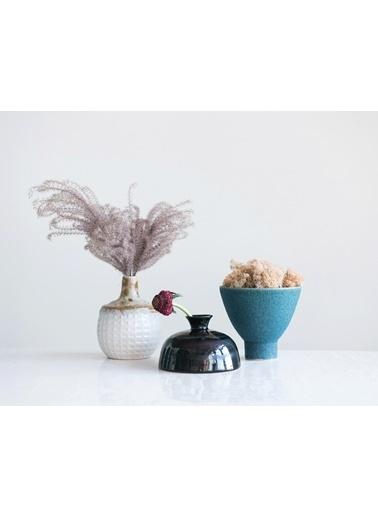 Warm Design Porselen Vazo Mavi